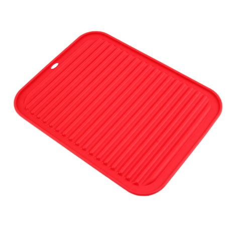 kitchen drying mat kitchen durable rectangle silicone dish drying mat pad