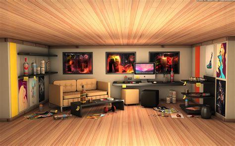 Living Room Desktop Background комната веб дизайнера мак и бардак 1920x1200 обои и