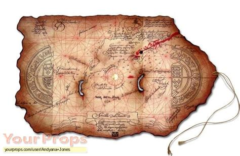 barco pirata goonies the goonies one eyed willys treasure map replica movie prop