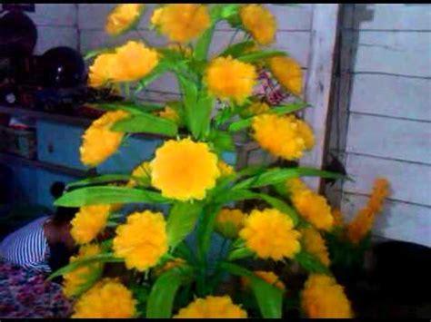 bunga  plastik desa indraloka youtube