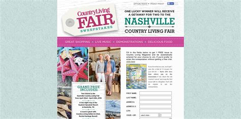 country living sweepstakes countryliving nashville fair 2016 sweepstakes