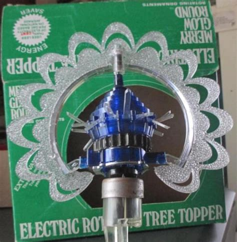 vintage merry glow star electric spinning rotating topper ornament vintage merry glow electric rotating tree topper made in usa 1960s antique price guide