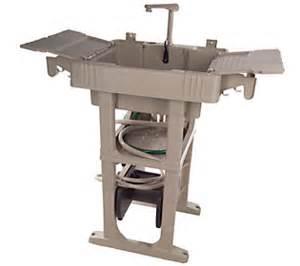 Reelsmart outdoor sink station w auto rewind 150cap hose