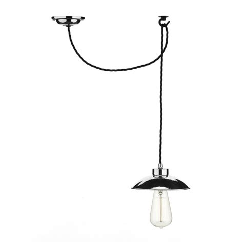 industrial style chrome ceiling pendant light