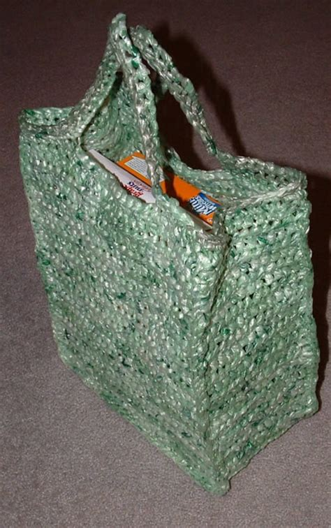 crochet pattern for plarn bag the green shopping bag my recycled bags com