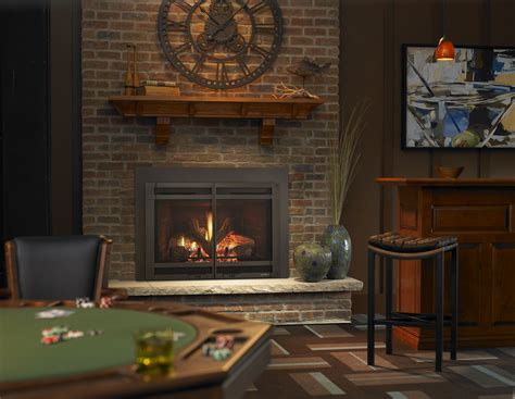 How To Spruce Up A Brick Fireplace by Backdrop Of A Brick Fireplace Wall In A Vacant Setting By