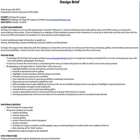 design brief art donna pochowicz dupage art league design brief layout