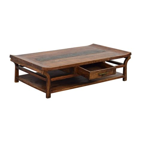 natural wood coffee table 90 off natural wood coffee table tables