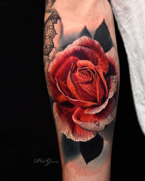 rose tattoo artist color tattoos by phil garcia