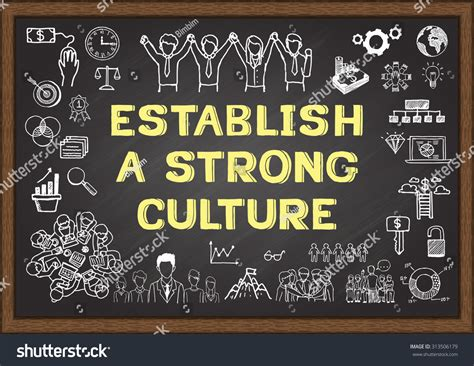 doodle strong doodle about establish a strong culture on chalkboard