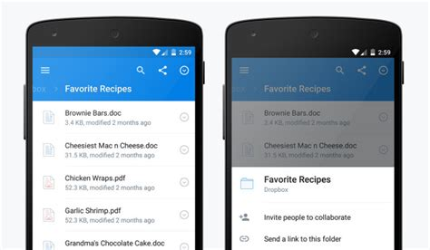 app layout box dropbox 3 0 comes with a material design makeover