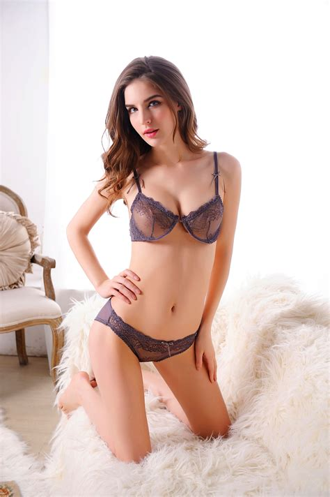 photos woman hot sexy laced bra set jb0062 black gray