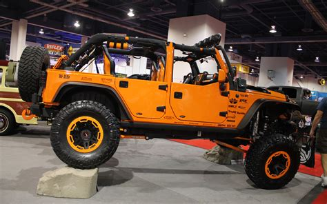 jeep orange crush jeep wrangler named 4x4 suv at 2012 sema