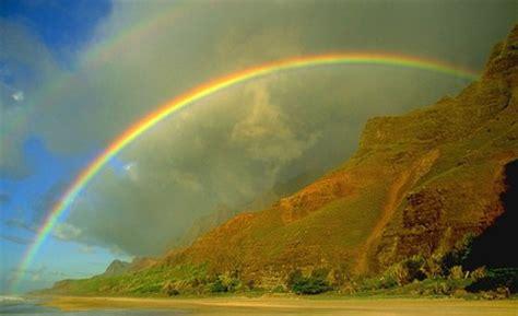 rainbow mountain rainbows nature background wallpapers
