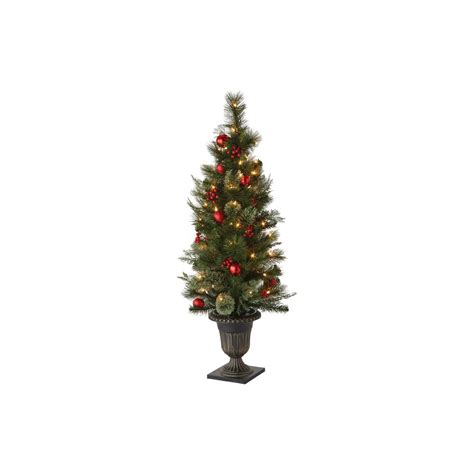 artificial trees tabletop martha stewart living 48 in indoor pre lit cedar and pine