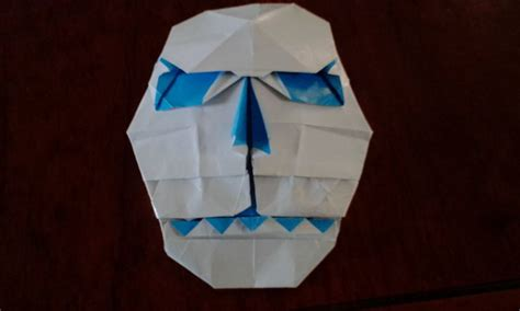 Origami Mask - origami skull mask by felipeorigamis on deviantart