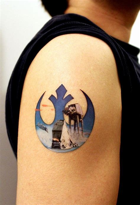 star wars tattoo design rebel alliance wars large temporary really