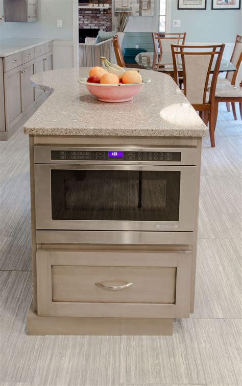 kitchen island with microwave drawer kitchen island built in microwave extra storage and