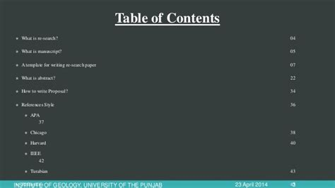 what are the components of a research paper research paper components