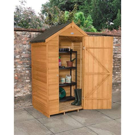 4 X 3 Shed by Forest Garden Overlap Garden Shed 4 X 3 At Wilko