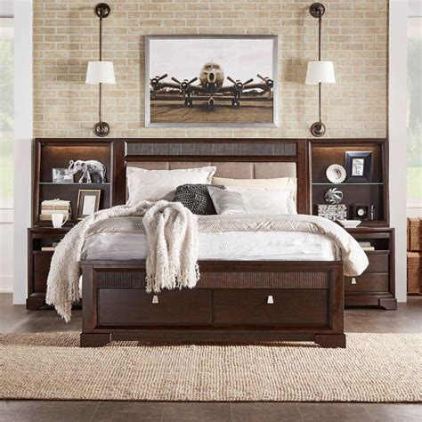 3 piece bedroom furniture set homesullivan nichols 3 piece brown queen bedroom set