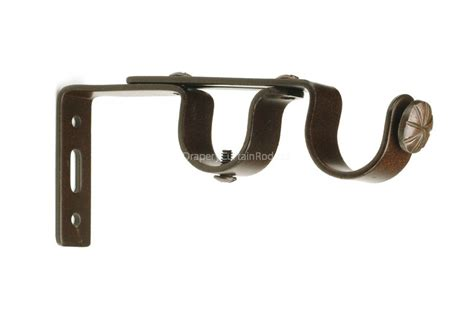 double curtain rod brackets antique double iron curtain rod brackets adbk aq
