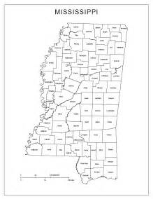 county map printable mississippi labeled map