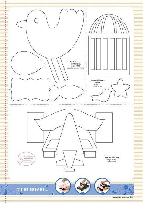 Papercraft Bird Template - 36 best birthday cards templates images on