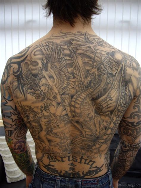 back tattoos cross 54 graceful religious tattoos on back