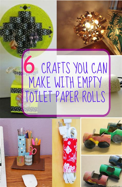 What Can I Make With Toilet Paper - 6 crafts you can make with empty toilet paper rolls