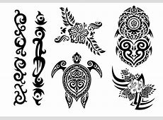 Hawaii Tribal Set in Black and White - Download Free ... Clip Art Hang Loose