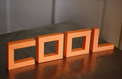 How To Make 3d Paper Letters - build 3d paper letters from a nifty font how about orange