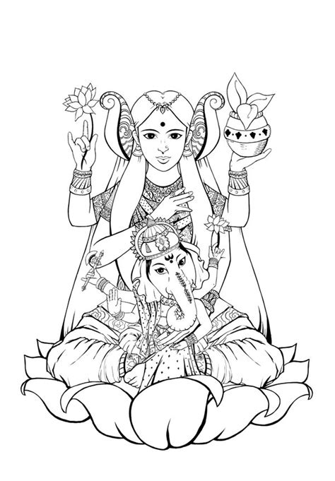 lakshmi tattoo designs lakshmi and ganesh by katemcblair on deviantart