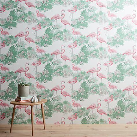 flamingo wallpaper buy buy john lewis flamingos wallpaper multi online at