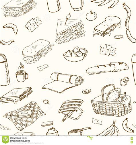 doodle summer picnic summer doodle vector illustration cartoondealer