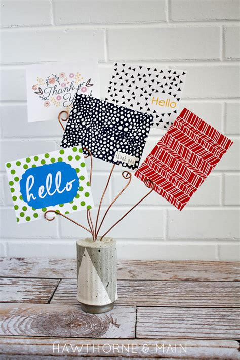 Ways To Display Gift Cards - diy cement card holder hawthorne and main