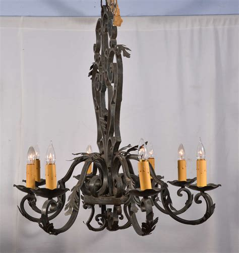 Custom Wrought Iron Chandeliers Beautiful Wrought Iron Oval Chandelier At 1stdibs