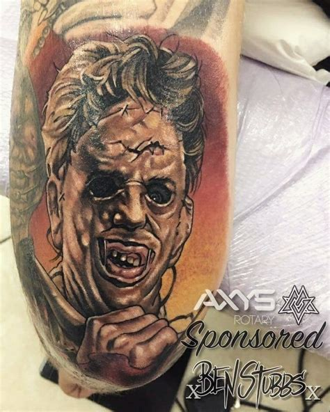 leather tattoo leatherface leather horror