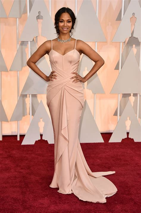 Oscars Carpet by Zoe Saldana 2015 Oscars Carpet In