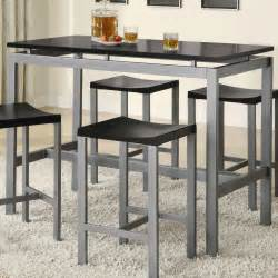 Minimalist counter height dining table set by true contemporary