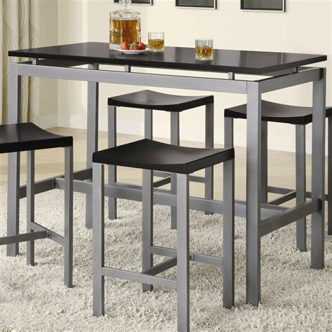 Dining Bar Table Minimalist Counter Height Dining Table Set By True Contemporary