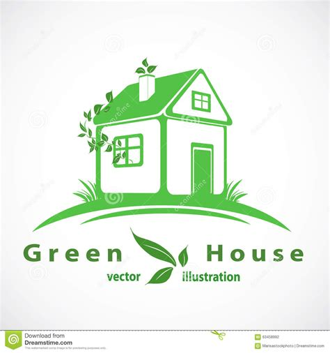 Green Home Logo Royalty Free Cartoon Cartoondealer Com 12454979 Green Concept Logo Vectors