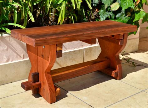 custom outdoor benches redwood trestle bench custom outdoor wooden bench soapp