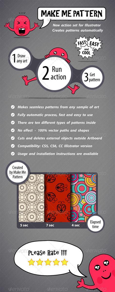 pattern maker illustrator action make me pattern action set for illustrator graphicriver