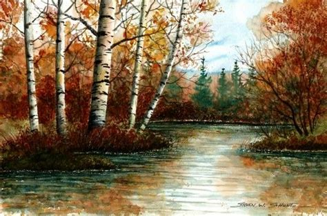 watercolor landscape painting ideas by justin