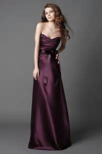 plum color dress 2011 plum strapless sash a line silhouette length
