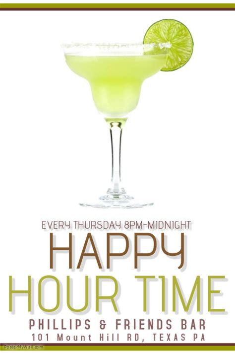 happy hour template postermywall
