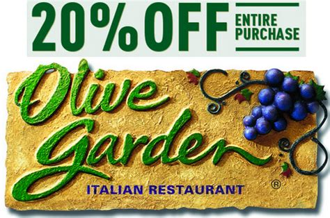 olive garden coupons january 2016 olive garden save 20 off your purchase