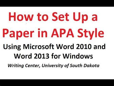 apa running header ms word 2010 apa style guide lightning