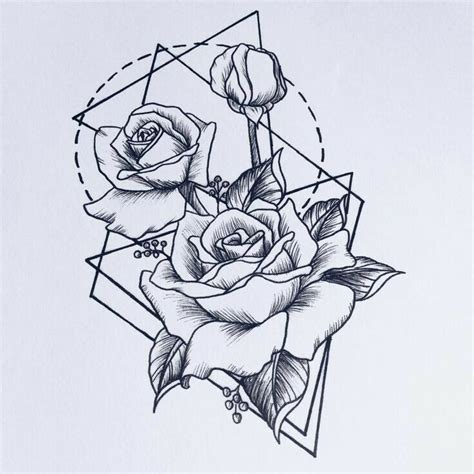 geometric rose tattoo 25 best ideas about geometric flower tattoos on